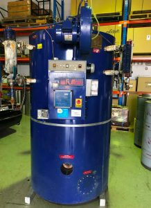 Fulton 300kW Vertical Steam Boiler FOR SALE – Used / Second-Hand